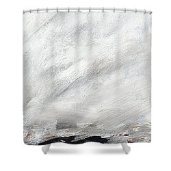 Coast #14 Ocean Landscape Original Fine Art Acrylic On Canvas Shower Curtain