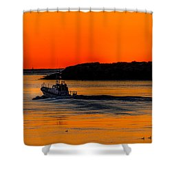 Coast Guard  Shower Curtain by Jerry Cahill