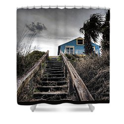 Coast Shower Curtain by Jim Hill