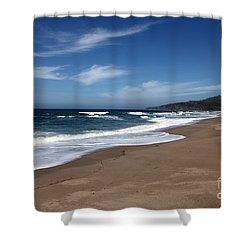 Coast Line Shower Curtain by Amanda Barcon