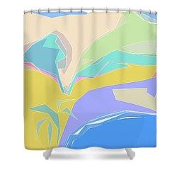 Coast Of Azure Shower Curtain