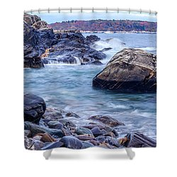 Coast Of Maine In Autumn Shower Curtain
