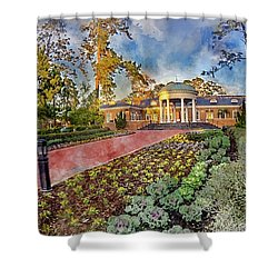 Coastal Carolina University Digital Watercolor Shower Curtain