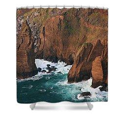 Coastal Detail Shower Curtain by Gaspar Avila