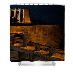 Coastal Embankment Shower Curtain