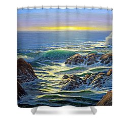 Coastal Evening Shower Curtain