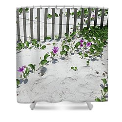Coastal Flowers Shower Curtain