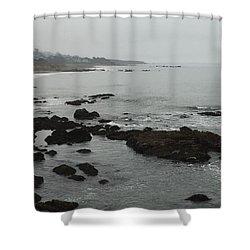 Coastal Fog Shower Curtain by Russell Keating