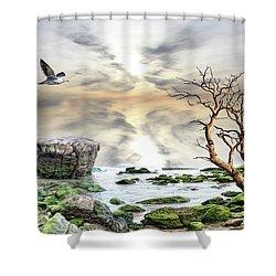 Shower Curtain featuring the photograph Coastal Landscape  by Angel Jesus De la Fuente