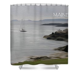 Coastal Maine Shower Curtain by Jewels Blake Hamrick
