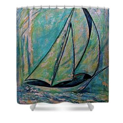 Coastal Metallic Shower Curtain