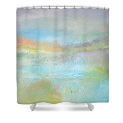 Coastal Mist Shower Curtain by Filomena Booth