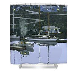 Coastal Morning Shower Curtain