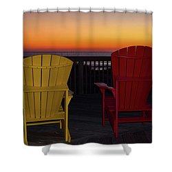 Coastal Mornings Shower Curtain