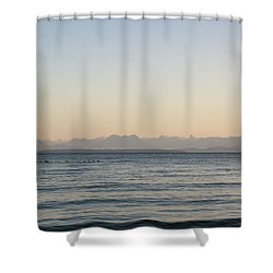 Coastal Mountains At Sunrise Shower Curtain