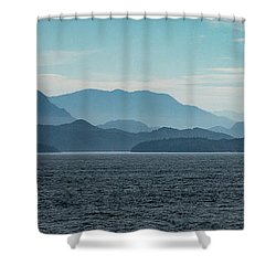 Coastal Mountains Shower Curtain