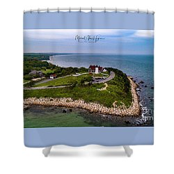 Coastal Nobska Point Lighthouse Shower Curtain