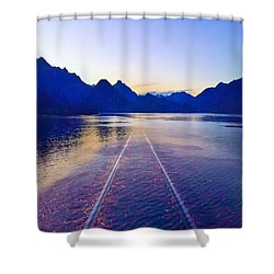Coastal Rail Road Shower Curtain