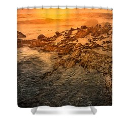 Coastal Rocks Shower Curtain