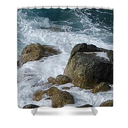 Coastal Rocks Trap Water Shower Curtain