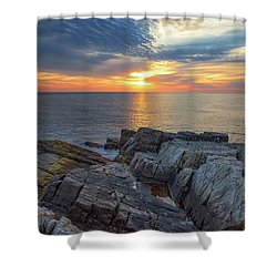 Coastal Sunrise On The Cliffs Shower Curtain