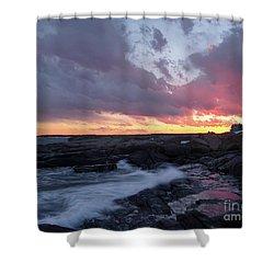 Coastal Sunset Cape Neddick - York Maine  -21056 Shower Curtain