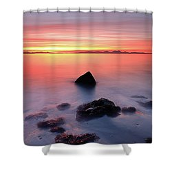 Shower Curtain featuring the photograph Coastal Sunset Kintyre by Grant Glendinning
