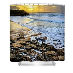 Shower Curtain featuring the photograph Coastal Sunset by Marion McCristall