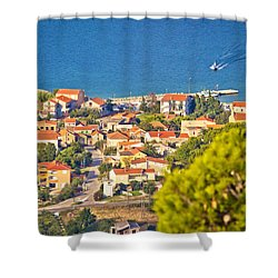 Coastal Village On Island Of Pasman Shower Curtain
