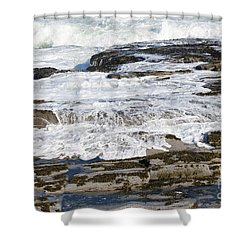Coastal Washout Shower Curtain
