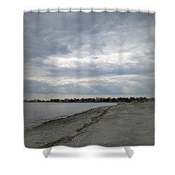 Coastal Winter Shower Curtain