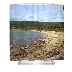 Coastline In Guam II Shower Curtain