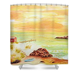 Coastline Lighthouse Shower Curtain