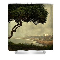 Coastline Of Lima, Peru Shower Curtain