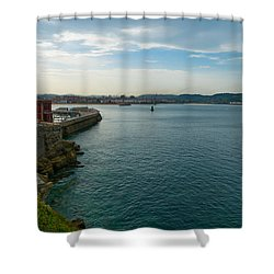Coastline Of The Bay Shower Curtain