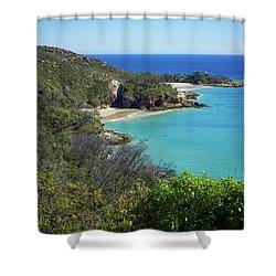 Coastline Views On Moreton Island Shower Curtain