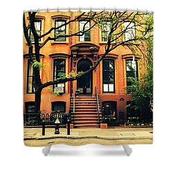 Cobble Hill Brownstones - Brooklyn - New York City Shower Curtain by Vivienne Gucwa