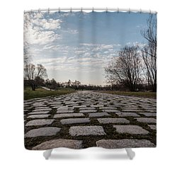 Cobble-stones Shower Curtain by Sergey Simanovsky