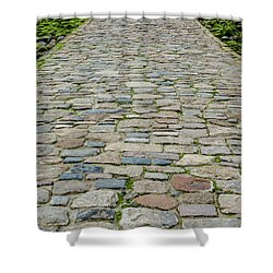 Cobbled Causeway Shower Curtain