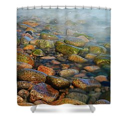 Cobblestone Beach Shower Curtain