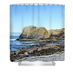 Shower Curtain featuring the photograph Cobblestone Beach by Bryan Carter