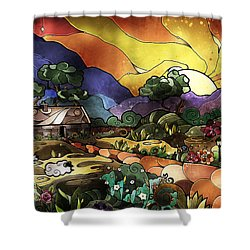 The Shepherd's Cottage Shower Curtain