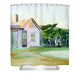 Cobb's House After Edward Hopper Shower Curtain