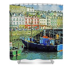 Cobh Harbour Shower Curtain by Dennis Cox WorldViews
