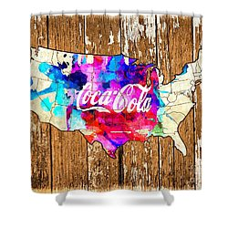 Coca Cola America Shower Curtain