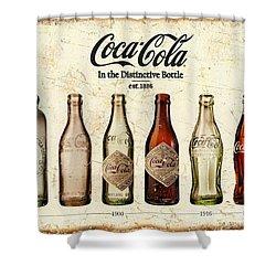 Coca-cola Bottle Evolution Vintage Sign Shower Curtain