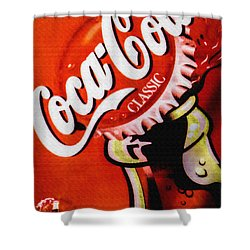 Coca Cola Classic Shower Curtain