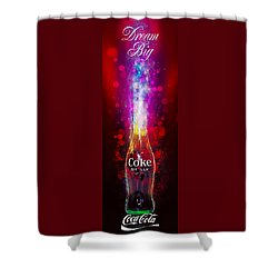 Shower Curtain featuring the photograph Coca-cola Dream Big by James Sage