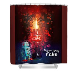 Coca-cola Forever Young 15 Shower Curtain