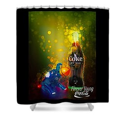 Coca-cola Forever Young 3 Shower Curtain